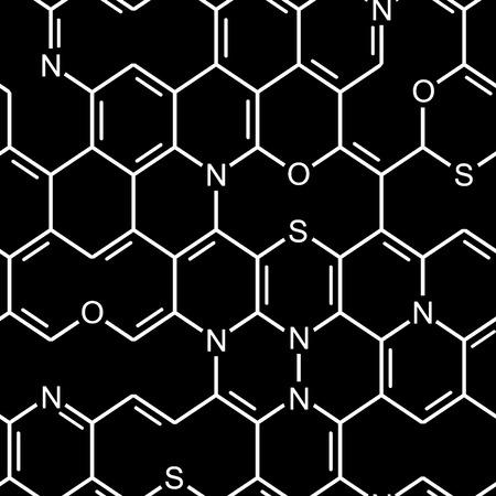 Chemical heterocyclic structure. Seamlessly vector wallpaper Vector