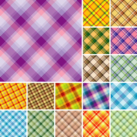 Big collection of seamless plaid patterns. Volume 4 Vector