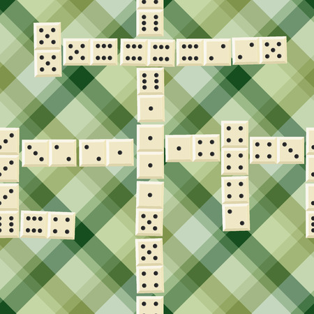 domino: Seamless domino game pattern Illustration