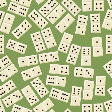 Seamless domino game pattern Vector