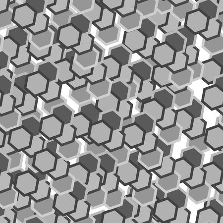 Grey hexagon tiles. Seamless vector pattern Stock Vector - 3132817