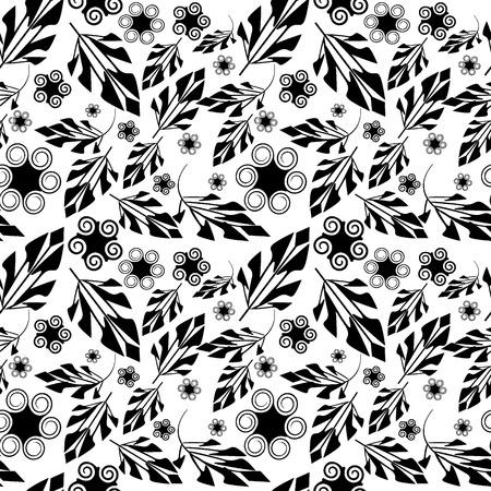seamlessly: Senza soluzione di vettore d'arte a sfondo nero fogliame