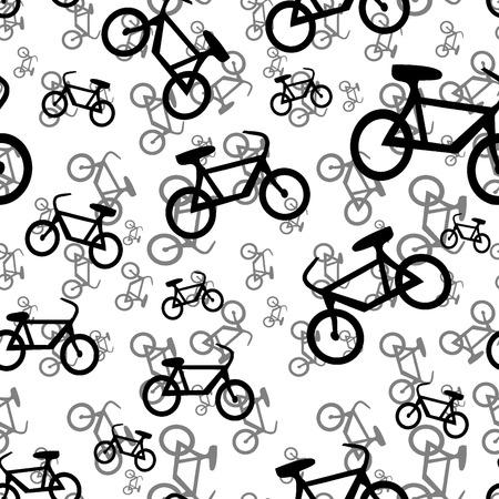 Seamless bicycle black pattern