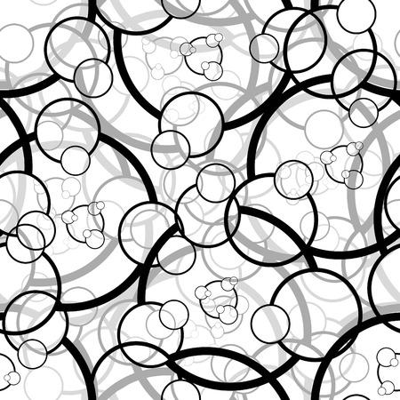 Retro black seamless circle background