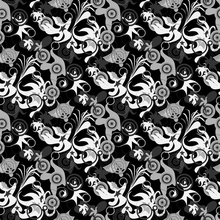 greyscale: Seamless greyscale abstract background Illustration