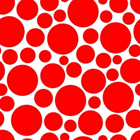 uncolored: Vector textura sin fisuras con c�rculos rojos