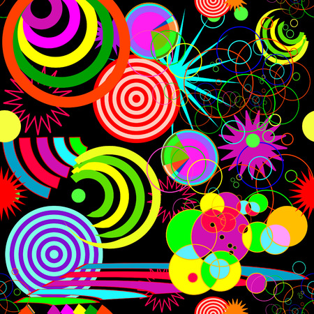 psychedelic background: Seamless vivid abstract background Illustration