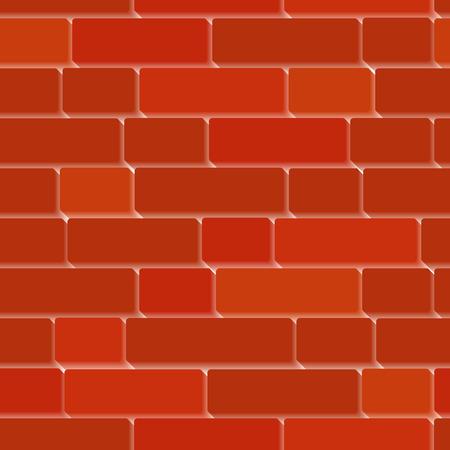 Seamless vector 3d bricken wall Vector