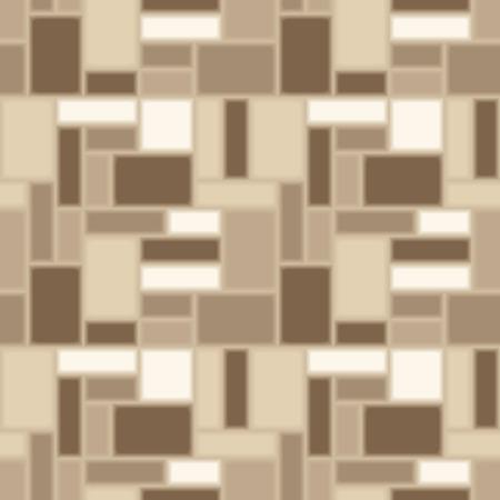 Seamless brown tile pattern Vector
