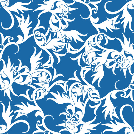 Seamless vector wallpaper with ornament elements Stock Vector - 3365708