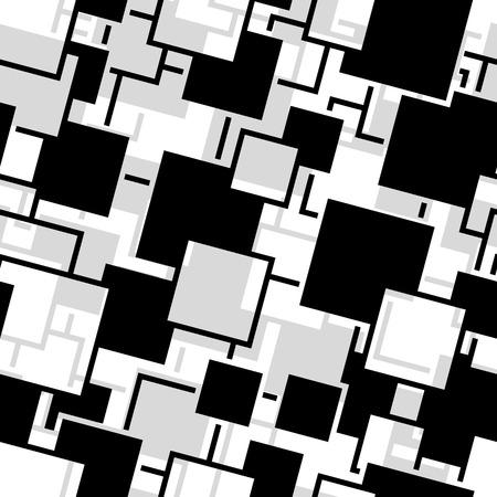 Retro black and white seamless rectangles background