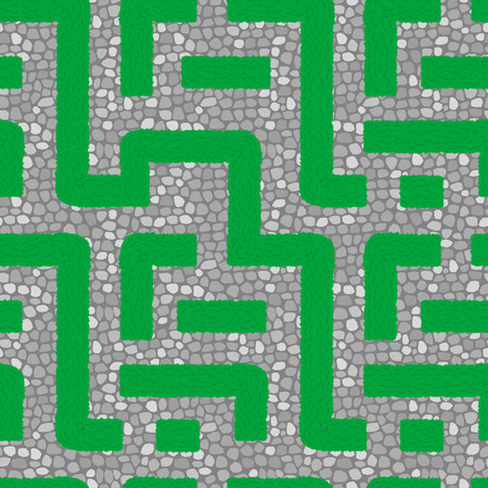 Live labyrinth. Seamless vector pattern Vector