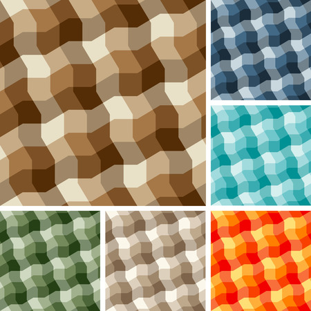 Big collection of seamless plaid patterns Vector