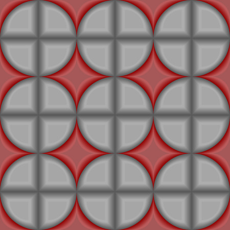 Seamless 3d vector pattern with tiles Vector