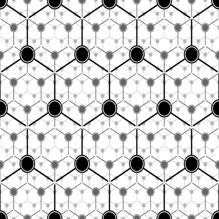 Graphite atom structure. Seamless vector pattern Vector