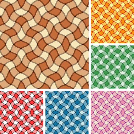 Big collection of seamless plaid patterns. Volume 7 Vector