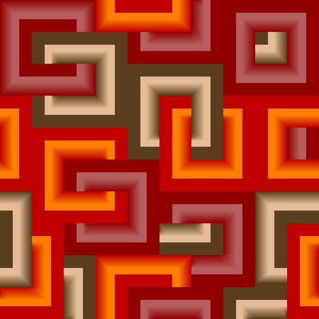 Retro vivid seamless square background Stock Vector - 3550437