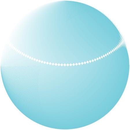 Abstract blue globe logo Vector