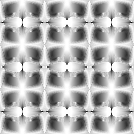 Seamless halftone black and white background Vector