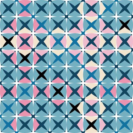 Seamless blue tile pattern Stock Vector - 3555779
