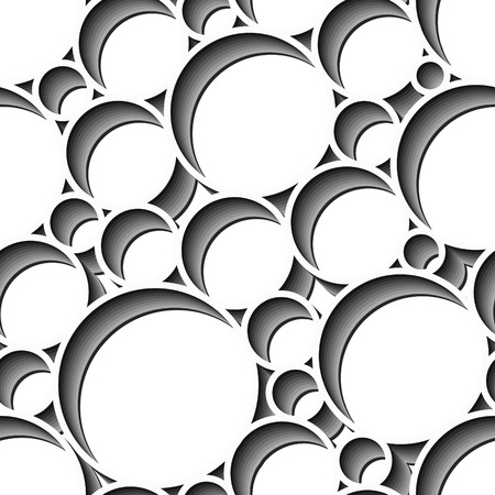 Retro black and white seamless circle background Stock Vector - 3555792