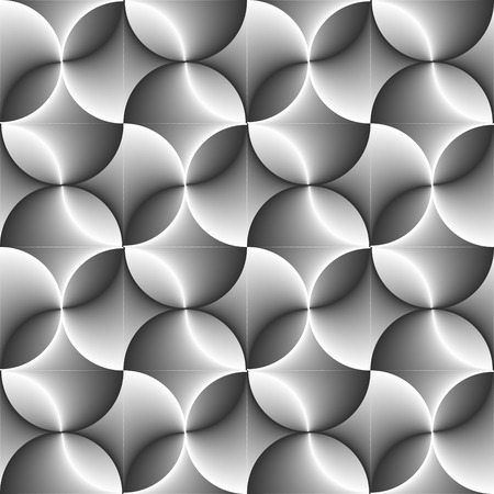 Seamless halftone black and white circle background Illustration