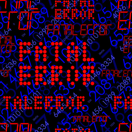 error message: Fatal error message. Seamless vector pattern with holographic effect