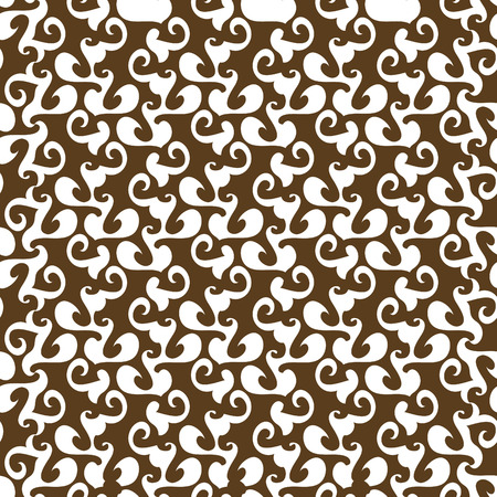 seamlessly: Seamless brown ornament pattern