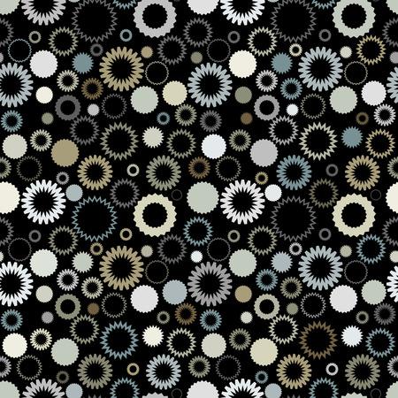 Retro seamless gear wallpaper Vector
