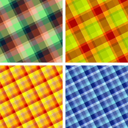 Collection of plaid. Seamless patterns Vector