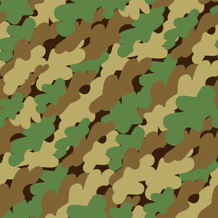 Seamless forest camouflage pattern Vector
