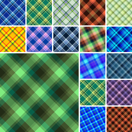 Big collection of seamless plaid patterns Stock Vector - 3927854