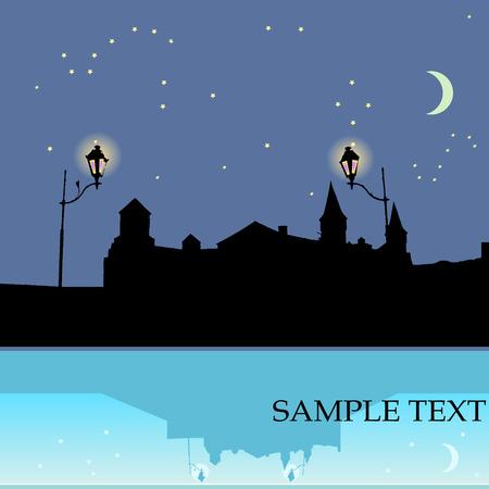Night castle Stock Vector - 3927848