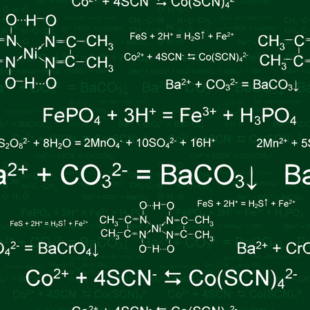 Seamlessly wallpaper chemistry scribbles on green blackboard Vector