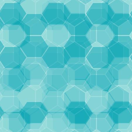 Hexagon tiles. Seamless vector pattern Stock Vector - 3927868