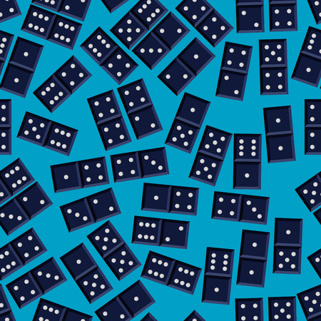 Seamless domino game vector pattern Vector