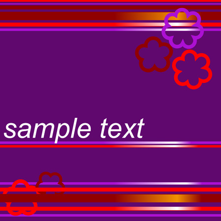 violet background with sample text Stock Vector - 3960888