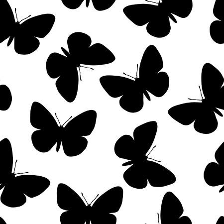 siluetas: Seamless butterfly background