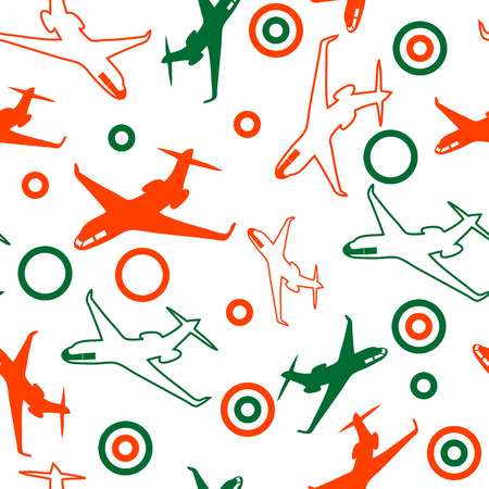 seamless airplane background Vector