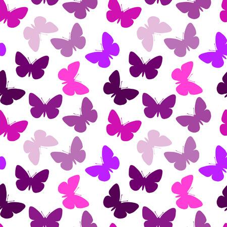 tekening vlinder: Violet naadloze vlinder achtergrond