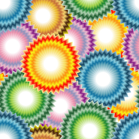 Vivid, colorful, repeating art flower background Vector