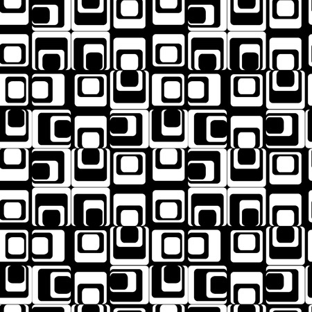 Retro black and white seamless rectangles background Stock Vector - 4197980