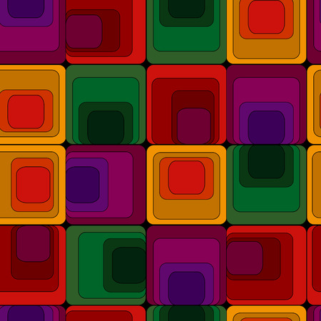 seamlessly: Retro vivid seamless square background Illustration