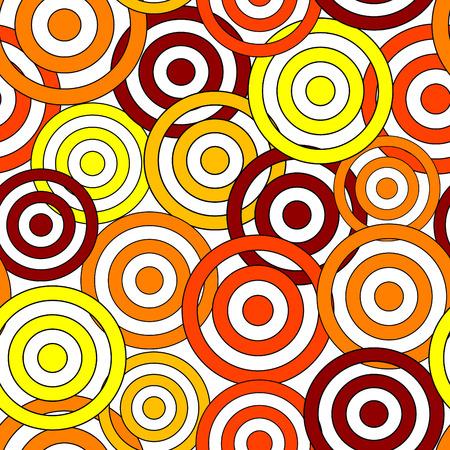 frantic: Retro yellow&red seamless circle background. Illustration