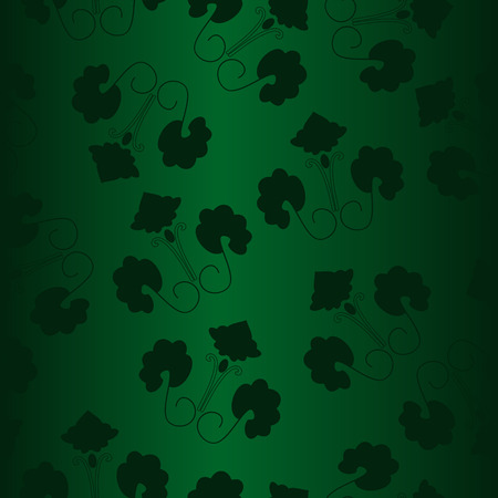 Seamless green ornament vector pattern Vector