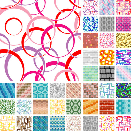 Collection of seamless patterns. Volume 11 Vector