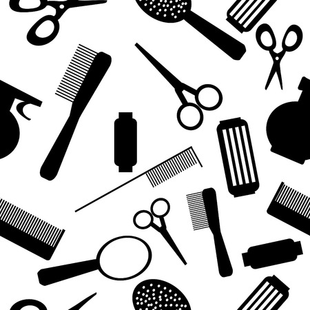 Vector seamless Beauty Salon background pattern Illustration