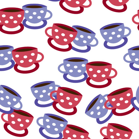 seamless vector background with cups Stock Vector - 4218433