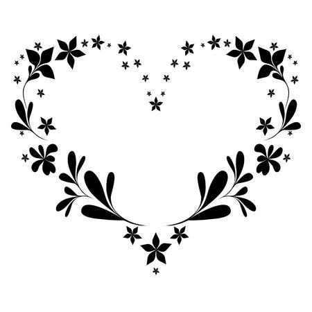 drawing heart: vecteur mod�le en forme de coeur. Illustration