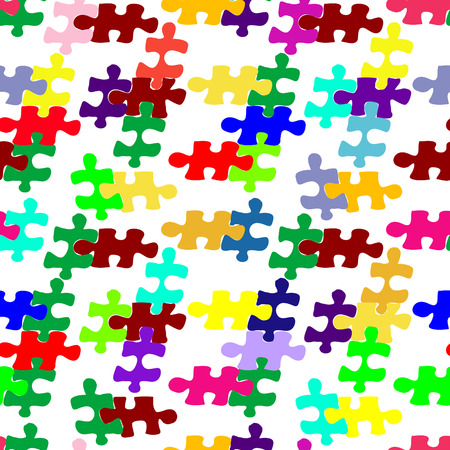 vector seamless pattern with puzzle. Vector